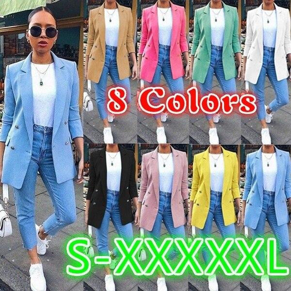 2020 Women Causal Winter Spring Overcoat Female Plus Sizes 5XL Big Large Pocket Coat Warm Long Button Jacket Casco Feminino