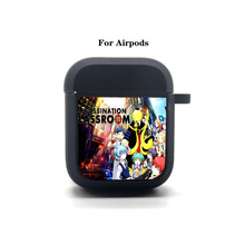 Anime Assassination Classroom Cartoon Airpods Case Protective Cover Bluetooth Airpods Headphone case Earphone Soft Silicone Case