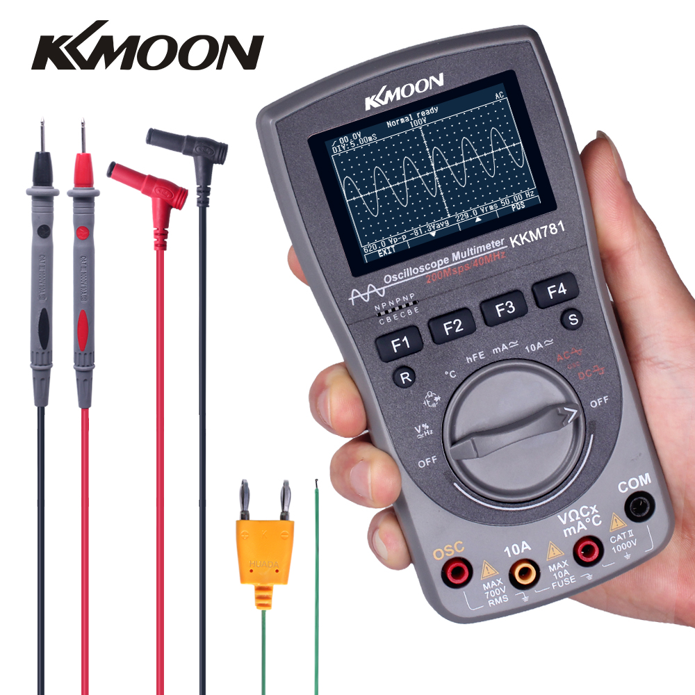 Upgraded Intelligent 2 in 1 Digital 40MHz 200Msps/S One Key Auto Oscilloscope 6000Counts True RMS Multimeter|Multimeters| |  - title=