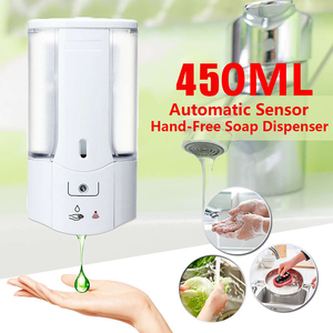 450mL Wall Mounted Automatic Soap Dispenser Infrared Induction Smart Liquid Soap Dispenser for Kitchen Bathroom Accessory(China)