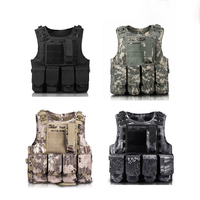 High Density Nylon Adjustable Size Custom Army Combat Military Fast Release Tactical Vest With 4 Magazines Molle System