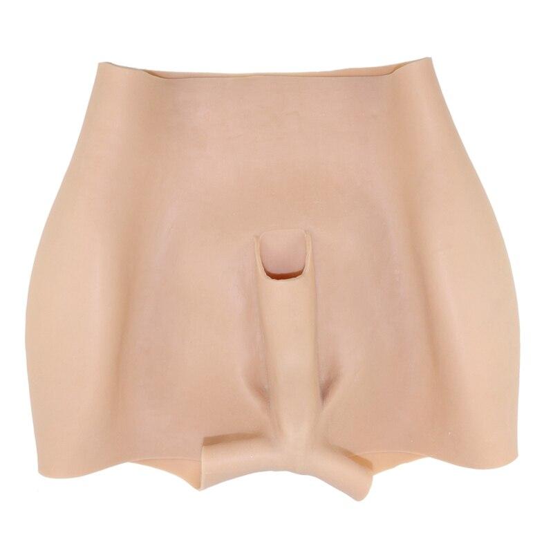 Silicone completo falso ass rico nádegas calças