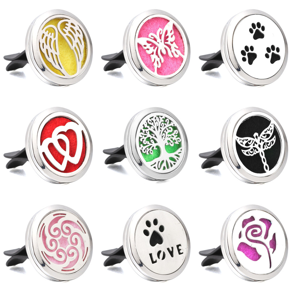New Car Air Freshener Auto Outlet Perfume Vent Tree of life Solid Fragrance Clip Car Air Vent Essential Oil Diffuser Car Perfume