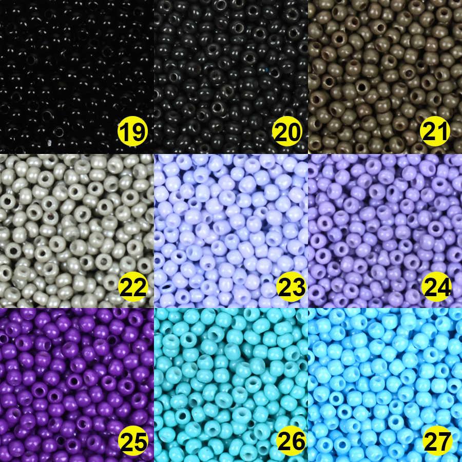 Approx.1000 2 Mm Pesona Bahasa Swedia Glass Beads untuk Perhiasan Membuat Rondelle Seedbeads Kralen DIY Gelang Kalung Perhiasan Aksesoris