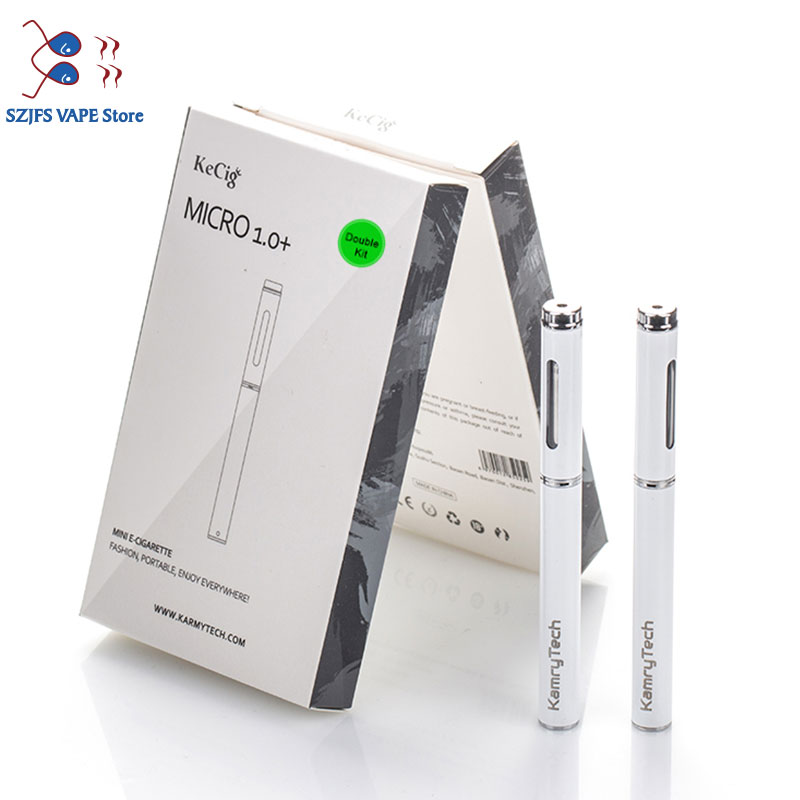 Original Kamry KeCig Micro 1.0+ Plus Kit Vapor Mini E-Cig Top Filling Atomizer Electronic Cigarette Vape Pen Vaporizer E Cig
