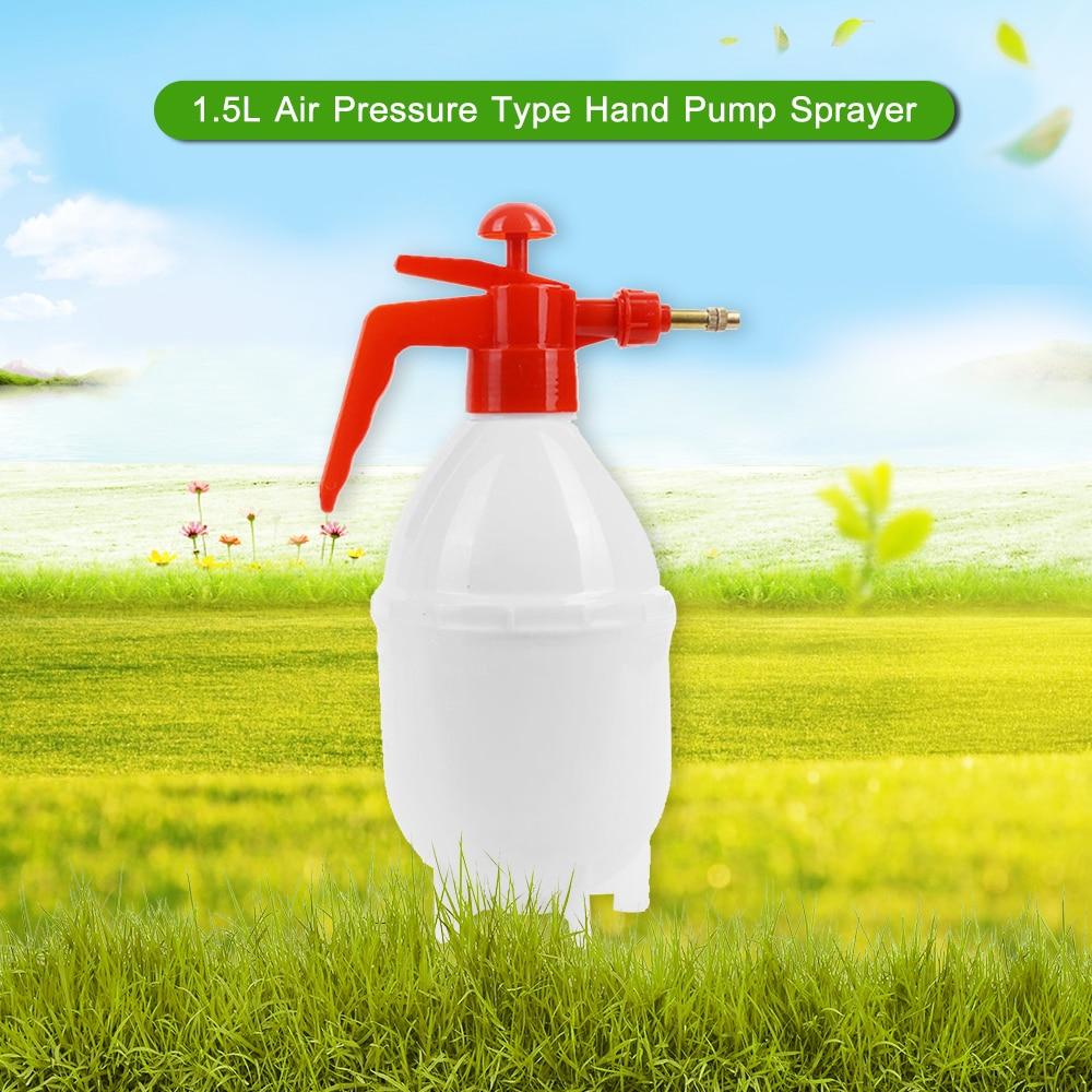 Pulverizador de mano de 1,5 l, pulverizador de aire tipo de presión, botella de pulverización, regadera, bote, atomizador para jardinería en el hogar