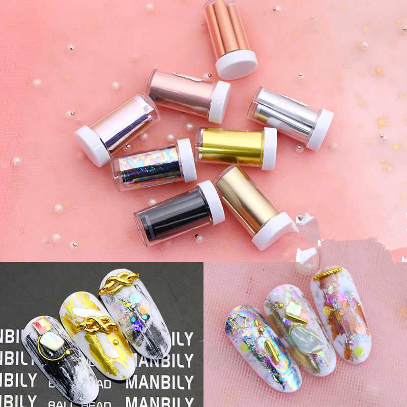 ผู้หญิงเงาเล็บฟอยล์ทองเงินเลเซอร์เล็บ Art Transfer สติกเกอร์เล็บเครื่องมืออุปกรณ์เสริม HOT SALE