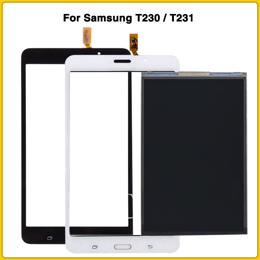 New T230 LCD Touch Panel For Samsung Galaxy Tab 4 7.0 T231 SM-T231 T230 SM-T230 LCD Display Touch Screen Panel Digitizer Sensor