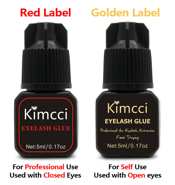 Kimcci 5ml Eyelash Extension Glue 1-3 Seconds Fast Drying Eyelashes Glue Pro Lash Glue Black Adhesive Retention Long Last 1