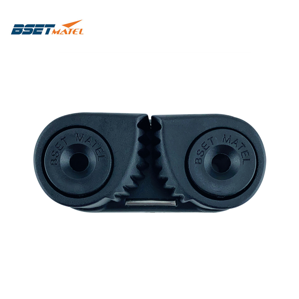 Black Composite 2 Row Matic Ball Bearing Cam Cleat Marine Boat Pilates Equipment Fast Entry Rope Wire Fairlead Sailing Sailboat
