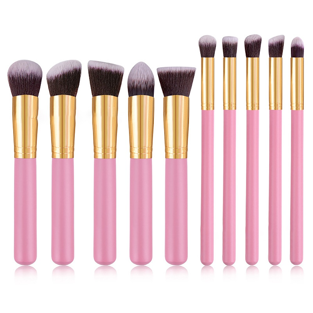 10pcs Mini Makeup Brushes Set Professional Powder Foundation Eyeshadow Make Up Brushes Cosmetics Soft Synthetic Hair