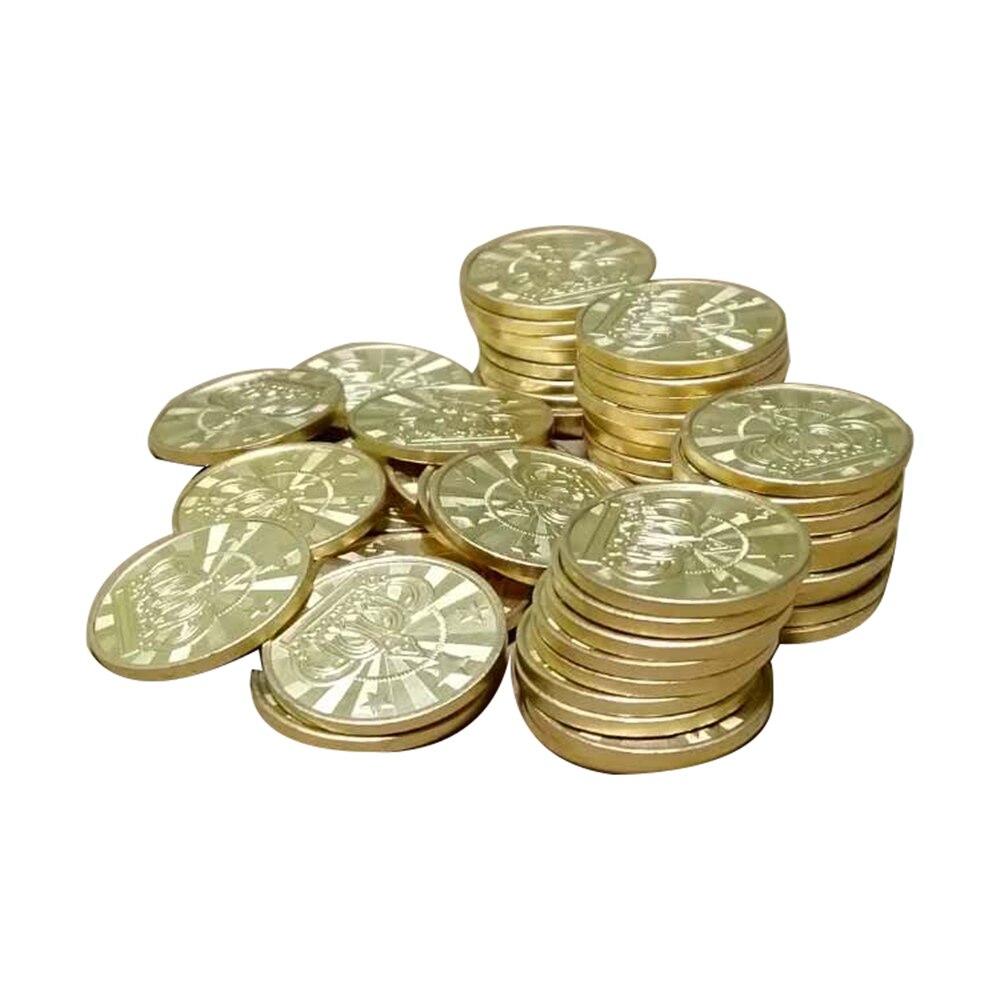 10 шт. 25*1,85 мм игровой жетон, латунная аркадная игра, монета, пентаграмма, короны, жетоны