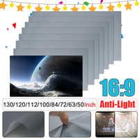 16:9 tragbare Faltbare Anti-licht Projektor Bildschirm 3D Home Cinema HD 1080P Projektion Bildschirm 50/60/ 63/72/84/100/112/120/130 zoll