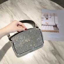 Frauen Tasche 2019 Diamanten Designer Tasche Hohe Qualität PU Umhängetasche Mode mini schulter Taschen Damen geldbörsen und handtaschen Neue Stil