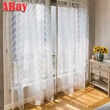 Белые тюлевые шторы с вышивкой для гостиной полупрозрачные спальни