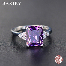 2019 New Fine Engagement Ruby Ring 925 Sterling Silver Rings Amethyst Gemstone Emerald Blue Sapphire For Women