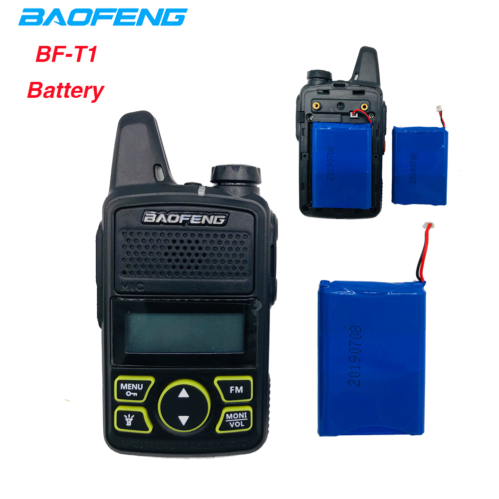 100% Original BAOFENG BF-T1 3.7V 1500mAh Li-ion Battery For BF T1 Walkie Talkie Baofeng Bf-t1 Mini Two Way Radio Accessories T1