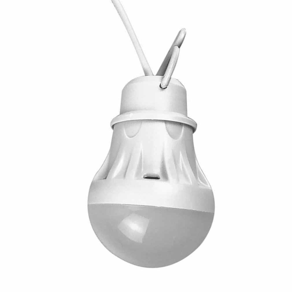 Bombilla USB, colorida lámpara ambiental de PVC, 5V, 3W, bombillas LED portátiles, lámparas USB para senderismo, Camping, viajes, iluminación al aire libre
