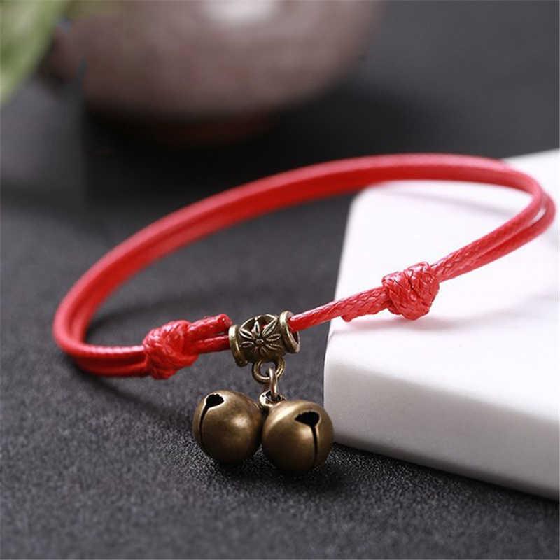 Charm bransoletka czerwony zestaw do parzenia kawy i czarny wosk liny łańcuszek na kostkę sandały Barefoot akcesoria łańcuszek na kostkę biżuteria kostki dla kobiet prezent dla mężczyzny