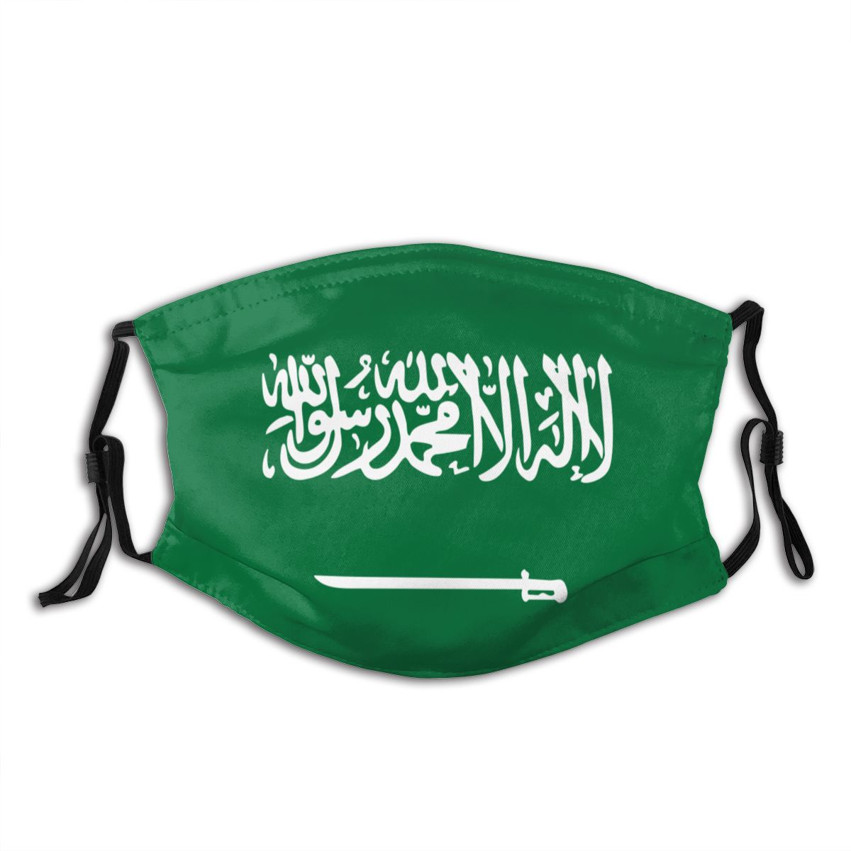 Saudi Arabia Flag Non-Disposable Mouth Face Mask Anti Haze Dustproof Protection Cover Respirator Muffle Mask With Filters