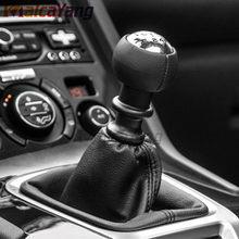 De calidad superior 5 6 palanca velocidad adaptador perilla de caja de cambios de la cabeza para Peugeot 307, 308, 3008, 407, 5008, 807 Citroen C3 C4 C8