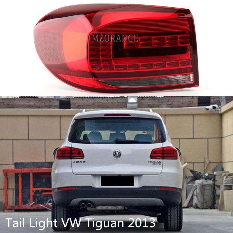 MZORANGE Car Styling Tail Light For VW Tiguan 2013 Tail Lights Volks Wagen LED Tail Light Rear Lamp DRL+Brake+Park+Signal