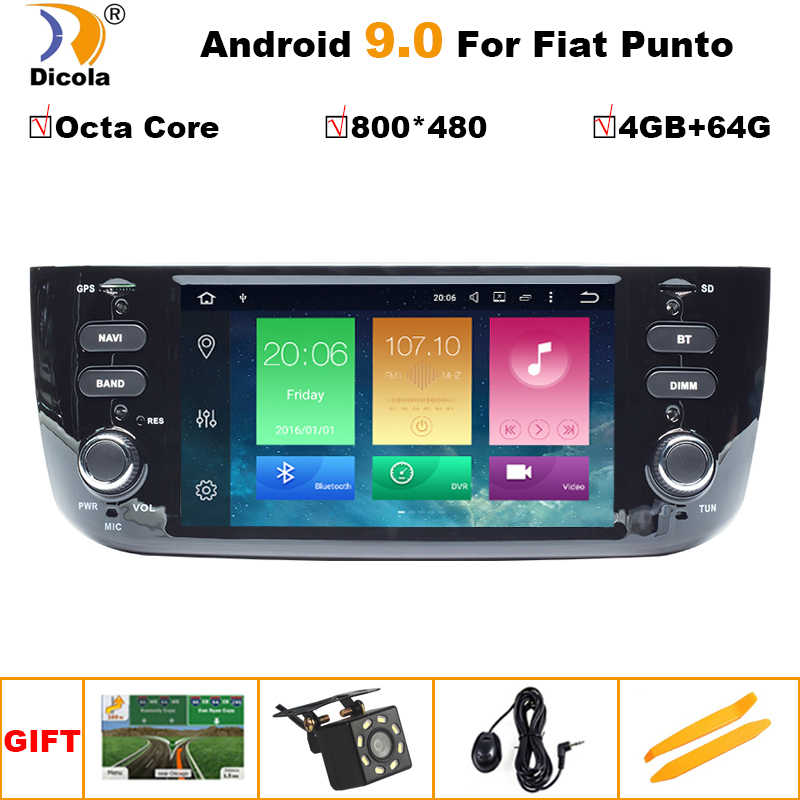 4G + 64G PX5 HD Android 9 reproductor de DVD del coche para FIAT 199/310/Linea 323 2012, 2013, 2014, 2015, 2016 Radio GPS WiFi TPMS USB SD