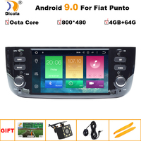 4G+64G PX5 HD Android 9 Car DVD Player for FIAT Punto 199 310 / Linea 323 2012 2013 2014 2015 2016 Radio GPS WiFi TPMS USB SD