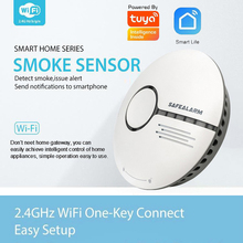 TUYA Smart Home life Independent Fire Alarm Smoke Detector wireless 2.4G WIFI smoke sensor Cigarette alarms Apps control IFTTT