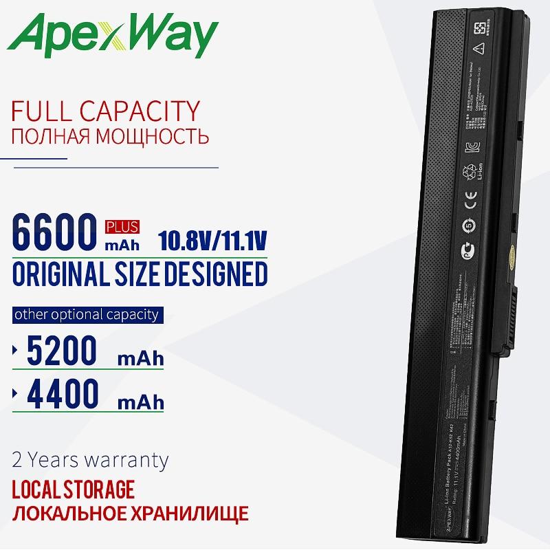 6600 мАч Новый аккумулятор для ноутбука Asus A52 A31-K52 A41-K52 A42-K52 K42F K42JB K42JK K52F K52J A52J A52F A52JB A52JK A52JR