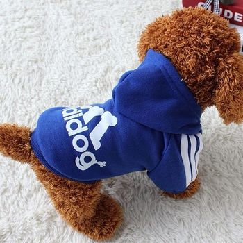 Dog clothes adidog 2020 new winter Pet clothes small and medium-sized dog Hoodies puppy clothing Sweatshirt for dogs 4