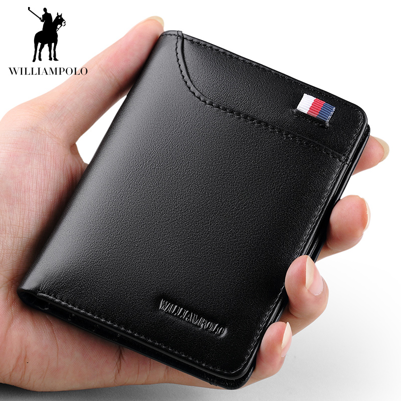 Driver's License Holster Men's Wallet Men's Short Leather Cross Section Youth Wallet Student Card Holder