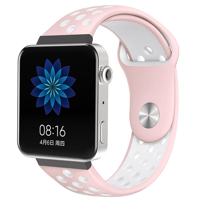 Мягкий силиконовый ремешок для часов для xiaomi smart watch, новинка, сменный ремешок для mi watch, резиновый ремешок для часов, аксессуары - Цвет: 8065