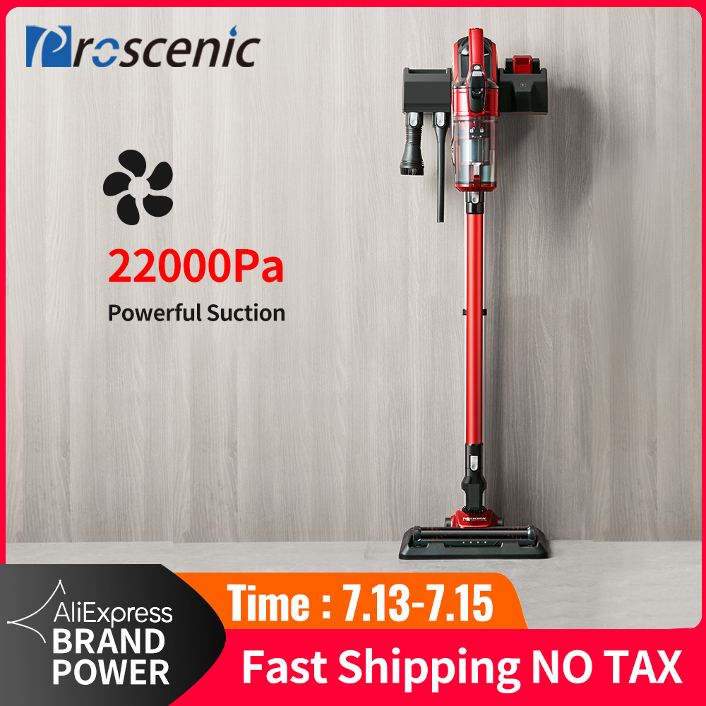 Proscenic Vacuum-Cleaner CYCLONE-FILTER 22000pa Handheld Rechargeable Vertical Home