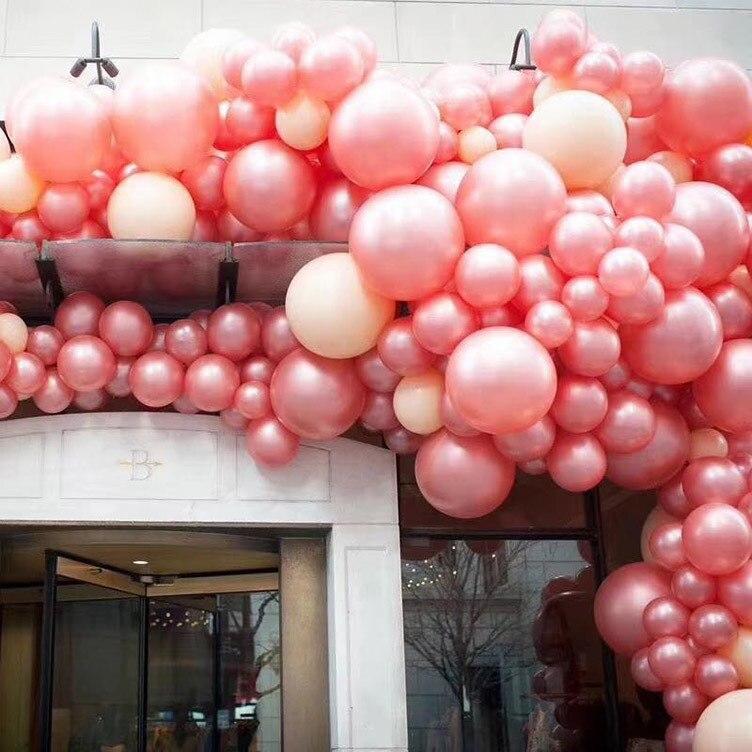 10pcs/lot 12Inch  Rose Gold Balloon Champagne Wedding Amazon Cross-border Hot Birthday Party Latex Balloons