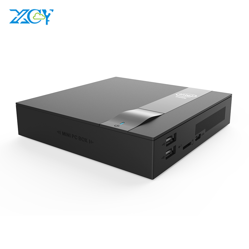 XCY Mini PC Intel Celeron J3455 Quad-Core 4K HD Graphics 500 Dual Band Wi-Fi BT4.0 HDMI M.2 SSD Type-C Nettop HTPC Computer