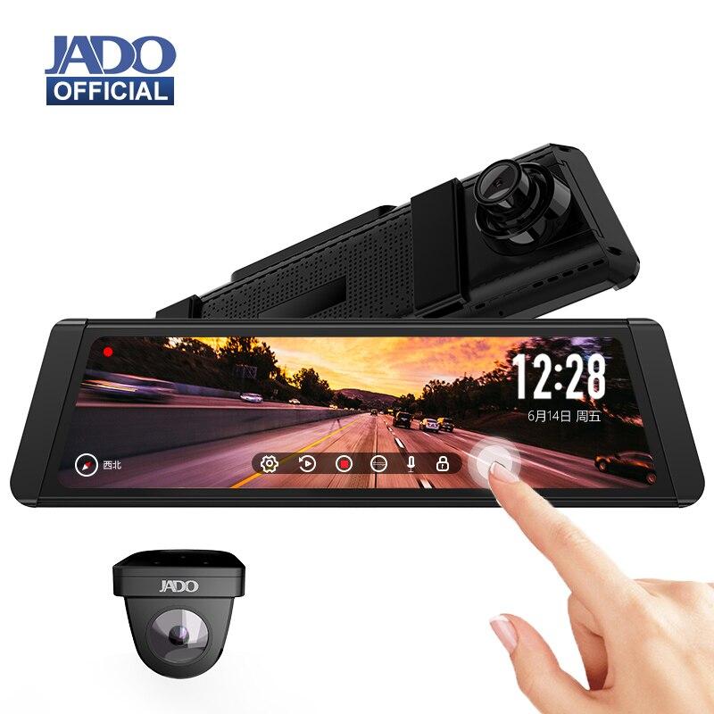JADO видеорегистратор T650C Stream зеркало заднего вида IPS Автомобильный видеорегистратор 1080P HD камера для вождения регистратор 2 камеры
