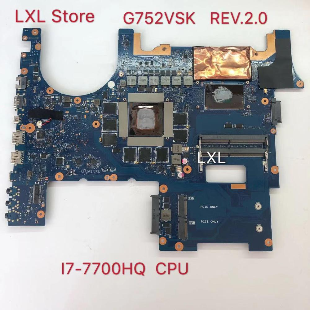 G752VSK REV.2.0 GTX1070 <font><b>I7</b></font>-<font><b>7700</b></font> CPU motherboard for ASUS G752 G752V G752VS G752VS G752VSK Laptop motherboard 100% test ok image