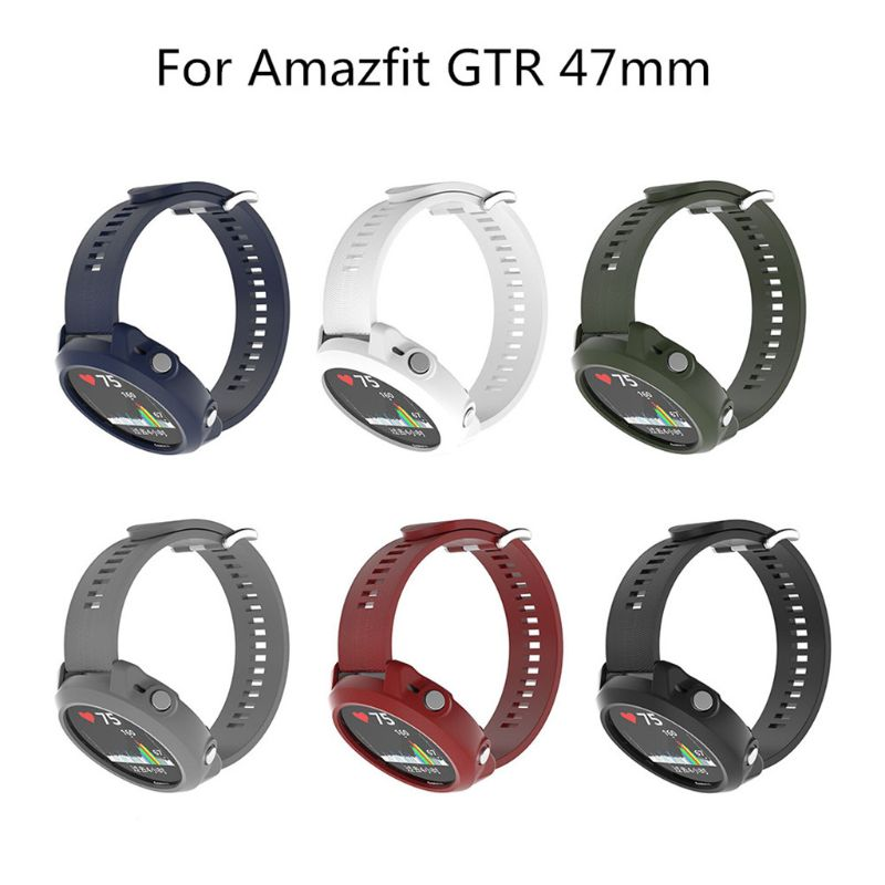 1PC Replacement Silicon Slim Watch Band <font><b>Case</b></font> Cover For <font><b>Garmin</b></font> <font><b>Forerunner</b></font> <font><b>645</b></font> Music Smart watch Protector Shel image