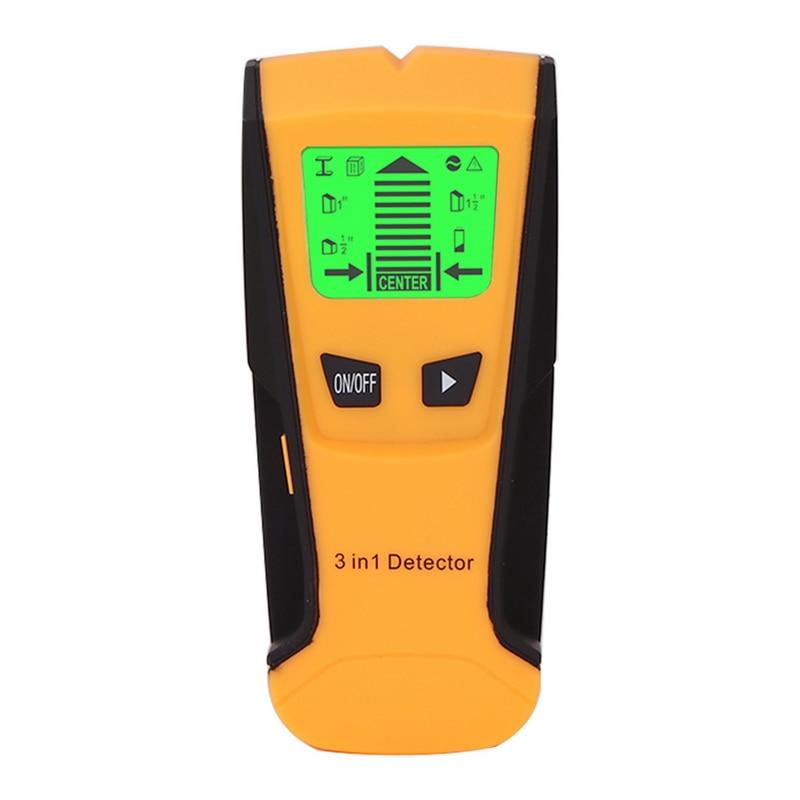 3 в 1 ручной профессиональный детектор глубины металла Pinpointer Стад Finder настенный сканер сенсор для провода обнаружения металлоискателей - Цвет: Светло-голубой