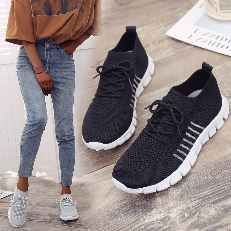 Women Mesh Sneakers Lightweight Breathable Summer Ladies Flat Shoes Big Size 35-43 Pink Sneakers Women Vulcanized Shoes