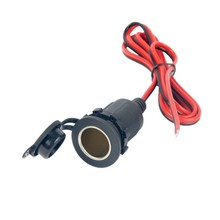 цена на DC 12V-24V Universal Waterproof Car Motorcycle Boat Tractor waterproof Cigarette Lighter Outlet Socket Adapt Cable
