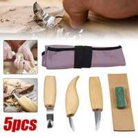 Drillpro 5 pçs escultura em madeira faca cinzel carpintaria cortador conjunto de ferramentas mão peeling escultura escultural colher escultura em madeira|Cinzel| |  -