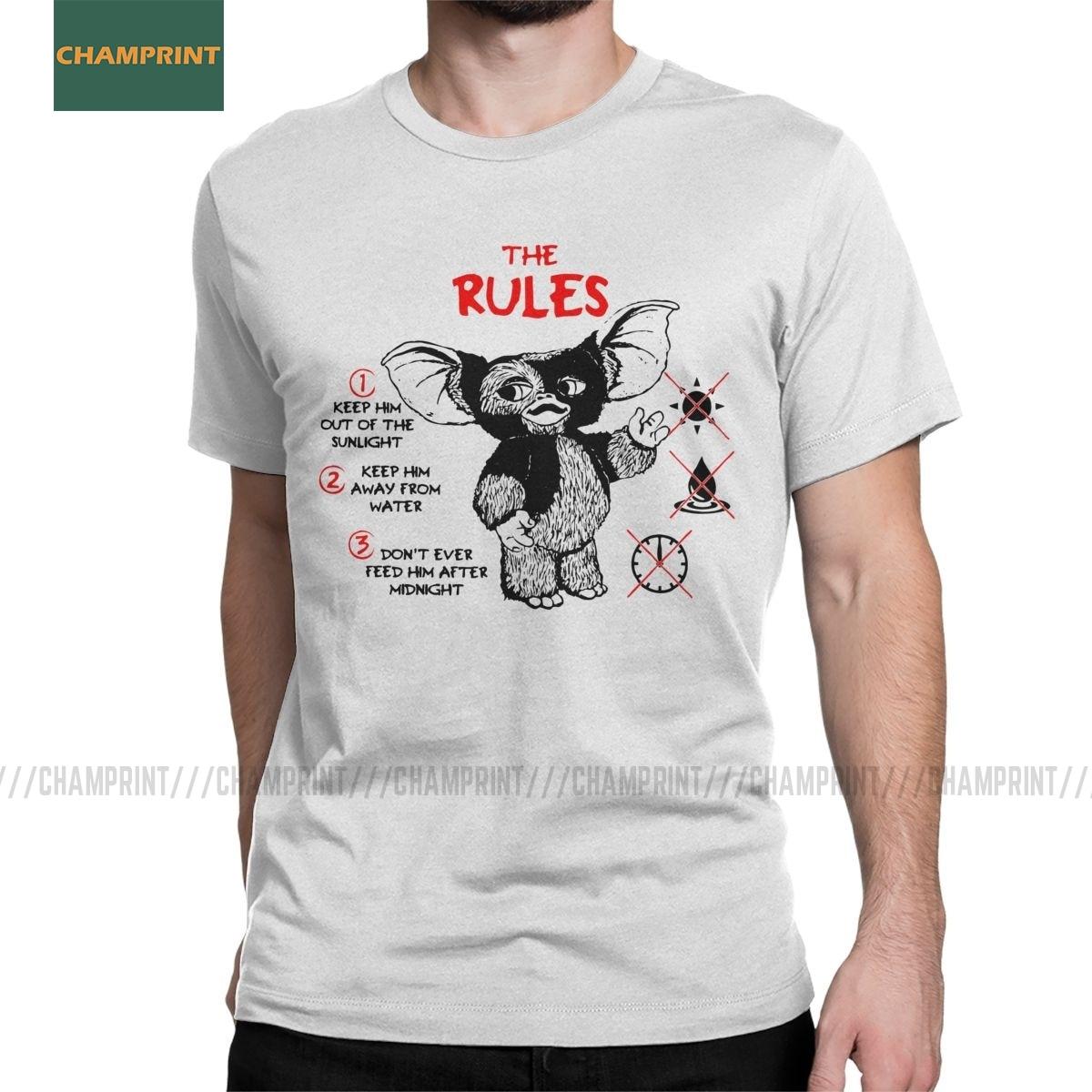 Men's Gremlins T Shirt Gizmo 80s Movie Mogwai Monster Retro Sci Fi Cotton Clothes Short Sleeve Tee Shirt Big Size T-Shirts