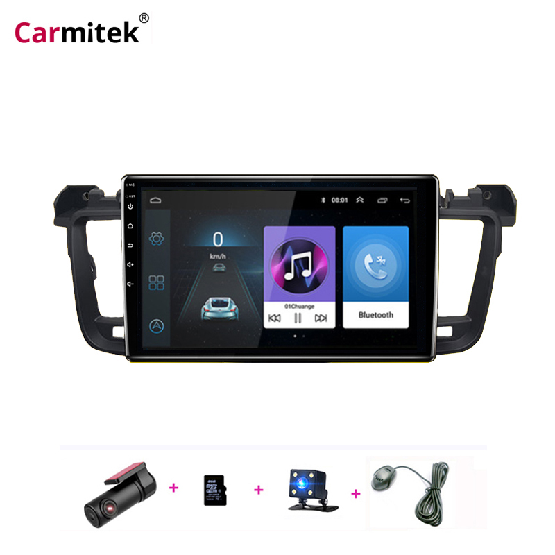 Carmitek Android 9.1 Car DVD Multimedia Player GPS For Peugeot 508 2011 2012 13 14 -2017 Radio With DSP 32EQ Stereo Navigation