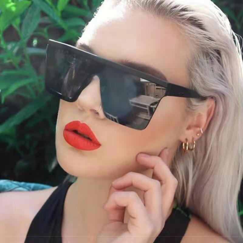 2021 moda kare kişilik moda seksi Retro bayanlar güneş gözlüğü kadınlar/erkekler büyük boy güneş gözlüğü