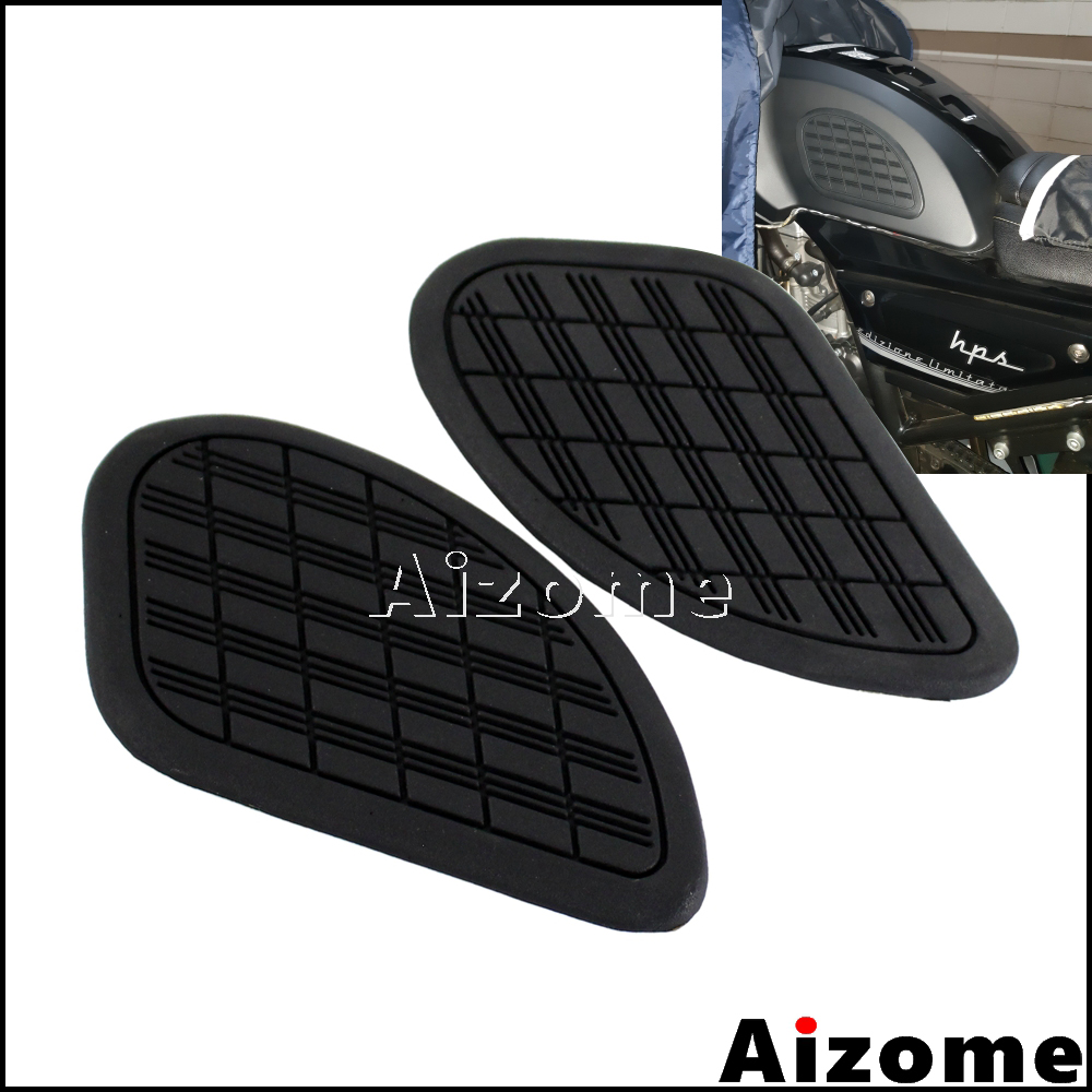1 Pair Motorcycle Fuel Tank Knee Pad Protector Stickers Side Panels For Harley Honda Yamaha Cafe Racer Vintage Tank Traction Pad