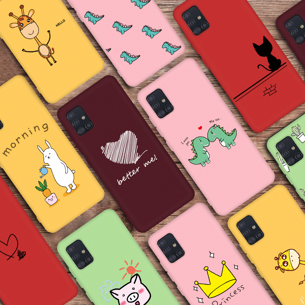 Cute Animal Pattern Soft Phone Case For Samsung Galaxy S20 Plus S20 Ultra 5G Ultra Silm Cover For Samsung A51 A71 A 51 71 Cases