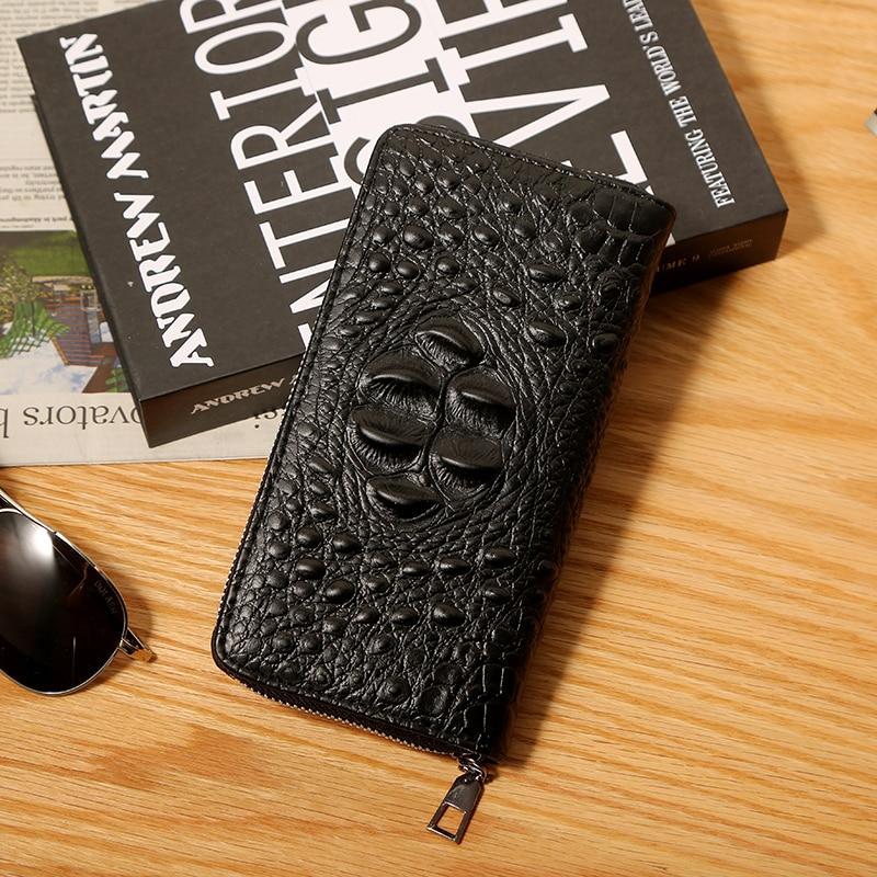 Wallet Clutch Crocodile-Pattern Purse Handbag Multi-Card Fashion Pull for Both Boutique