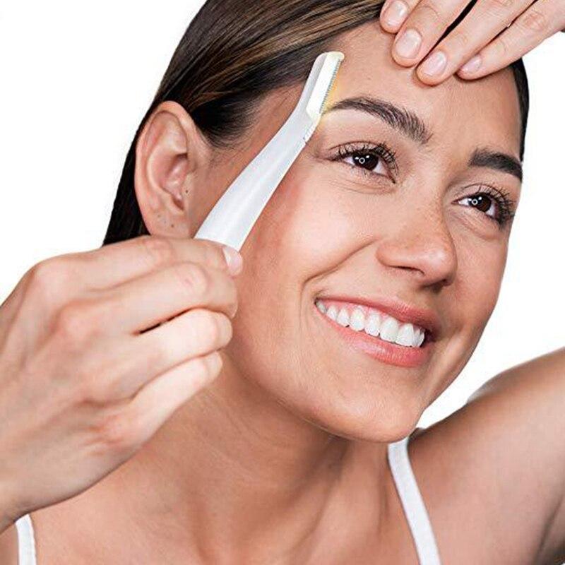Visage luminescent rasoir 3pcs épilateur éclairé Facial